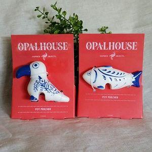 Opalhouse Pot Perchers Bird & Fish